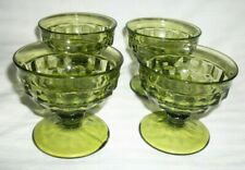 Vintage Cubist Whitehall Colony Sherbets Desserts Green LOT 4 Great Condition
