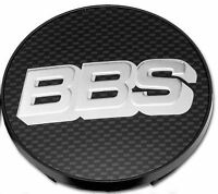1x Genuine BBS Centre Cap, Black Carbon with Silver BBS Logo 70.6mm - 09.24.467