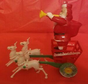 Vintage Rosbro Rosen Santa Candy Container