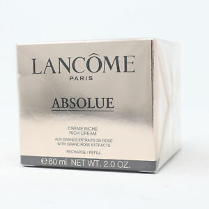 Lancome Absolue Rich Cream Refill With Grand Rose Extracts 2oz/60ml New With Box
