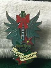 Hard Rock Cafe Pin Lake Tahoe Team Member Happy Holidays w Angel Wings & Red Bow