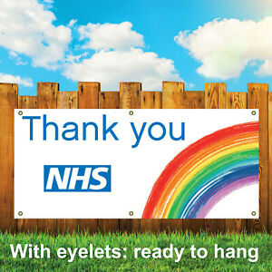 THANK YOU NHS OUTDOOR PVC BANNER - PRINTED OUTDOOR SIGN VINYL BANNERS