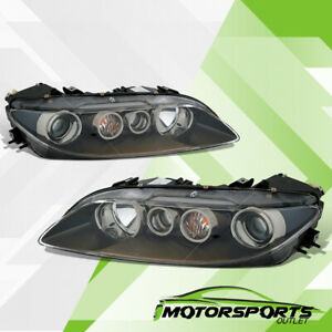 For 2006 2007 2008 Mazda 6 Black Headlights Head Lamps Driver & Passenger Set