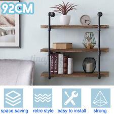 3-Layer Industrial Bookshelf Display Wall Mounted Hanging Shelf Storage