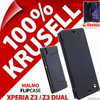 Krusell Malmo FlipWallet Case Flip Wallet Folio Cover for Sony Xperia Z3/Z3 Dual
