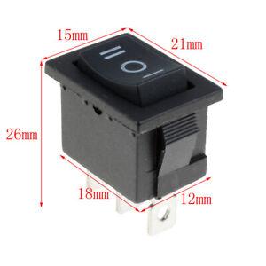 5PCS Rectangle Rocker Switch 3 Position On/Off/On Car Dashboard Dash Boat 12V