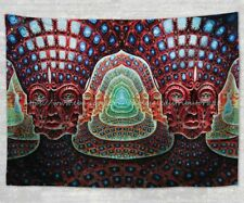 wall hanging psychedelic trippy fractal hippie  lateralus tapestry cloth poster