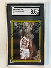 1996-1997 Topps Finest Michael Jordan Gold With Coating SGC 8.5 #291