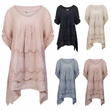 Unbranded Plus Size Cotton Short Sleeve Dresses for Women
