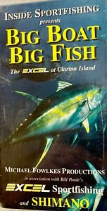 Big Boat, Big Fish! the Excel at Clarion Island! VHS Color NEW Sealed