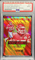 Patrick Mahomes II 2017 Panini Absolute Rookie Round Up Retail LOW POP PSA 9