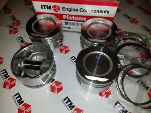 Toyota 22R & 22RE & REC +.030 Oversize Pistons & Chrome Rings Set of (4)