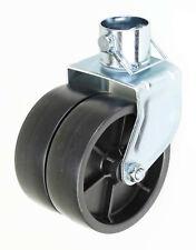 "6"" Trailer 360 Degree Swirl Dual Jack Caster Wheel With Lock Pin 2000lbs"