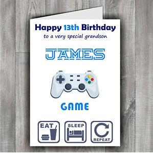 Gamer Son Daughter Grandson Brother Nephew Personalised Birthday Gaming Card