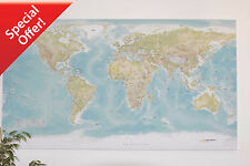 SALE - Huge World Wall Map  *** CANVAS ONLY  *** FREE POSTAGE