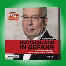 4CD Hörbuch DEUTSCHLAND IN GEFAHR   RAINER WENDT   wie ein schwacher Staat ...