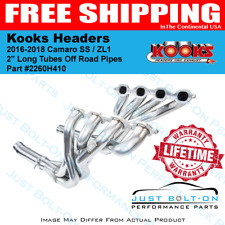 Kooks 2016-2017 Camaro SS ZL1 - 1-7/8 Long Tube Headers Off-Road Pipes 2260H410