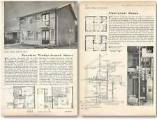 1957 Canadian Timber Framed House At Olympia, And Frost Proof Home