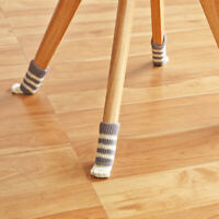 4Pcs Cover Furniture Chair Leg Socks Knitting Sock Sets Floor Protector Table