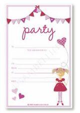 Sambellina Girls Hearts Pink Bunting birthday Party Invitations (12) LAST ONE