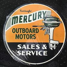 "BOATING OUTBOARD METAL SIGN MOTOR 12"" VINTAGE LOOKING"