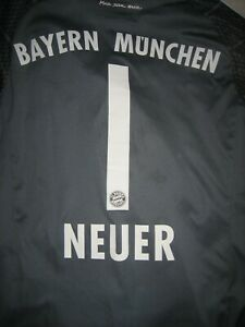 MANUEL NEUER#1 BAYERN MUNCHEN Adidas2013/14 longsleeve jersey size 13/14Y(164)
