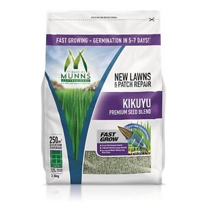 2.5kg VALUE KIKUYU - EMERALD. Grass Lawn Seed Drought Sun Wear & Shade Resistant