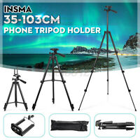 Professional Camera Tripod Stand Mount Cell Phone Holder for iPhone & Bag Clip