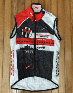 Louis Garneau Men's Sleeveless Cycling Jersey Full Zip Shirt Sz Medium