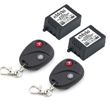 Dc 12V 2x1Ch Relay Wireless Rc Remote Control Rf Switch Home Kit 2 Transmitter