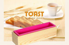 Rectangular Silicone Soap Mold Wooden Box Diy Tools Toast Loaf Baking Cake Molds