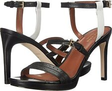 COLE HAAN Ayana Dress Heel Sandal Shoes Womens Black White 8.5 NEW IN BOX