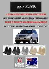 Sheepskin Car Seat Covers to fit Toyota Landcruiser 100 Series, Platinum Range