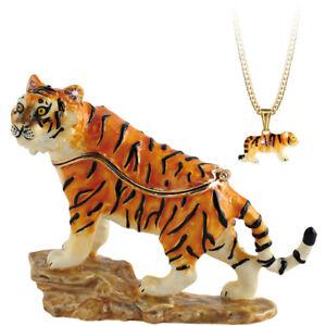 Secrets from Hidden Treasures 1065 Tiger Trinket Box