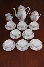 service café / thé porcelaine Limoges Feuillade Jean tasses soucoupes théière...