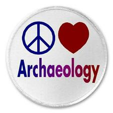 """Peace Love Archaeology - 3"""" Sew / Iron On Patch Archaeologist Anthropology Gift"""