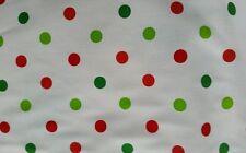 Robert kaufman fabric pimatex basics BKT-6001 red and green polka dot