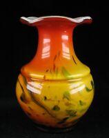 60er Jahre Glas Hyazinthvase Farbeinschmelzungen - mid century glass color melts