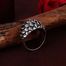 NEW Jewelry US size9 Fashion 316l stainless steel Retro Punk design ring #11