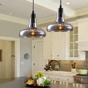 Modern Pendant Light Kitchen Glass Chandelier Lighting Home Wood Ceiling Lights
