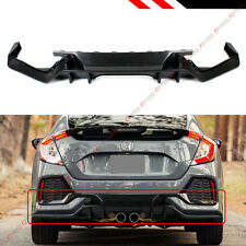 FOR 2016-18 HONDA CIVIC FK7 5D HATCHBACK SPORT TYPE-R STYLE REAR BUMPER DIFFUSER