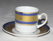Tirschenreuth Nordstrom Bavaria Cobalt & Gold Coffee Demitasse Cup Saucer