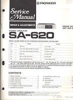 Pioneer service manual sa 620 Original Repair book amplifier amp stereo