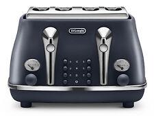 New Delonghi CTOE4003.BL Vintage Icona Elements 1800W 4-Slice Blue Toaster
