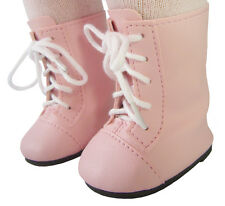 Victorian Era Style Pink 1800 Boots for American Girl Samantha Doll Clothes