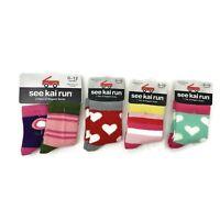 New See Kai Run Lot of 4 Baby Girl 0-12 Months Socks Organic Cotton Hearts
