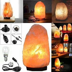 HSD Natural Himalayan Pink Salt Lamp with DIMMER Switch Cable Fitting with Bulb✅