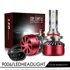60W DOT LED 9005 Headlight Kit High Beam 6000K White Bulbs Pair High Power LXF