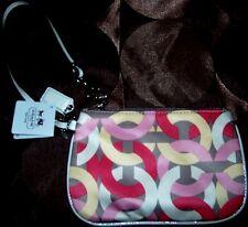 Wristlet Coach Kristin Chainlink Pattern Small Zip