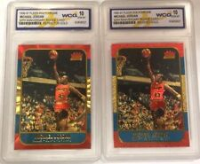 2 MICHAEL JORDAN FLEER 10TH ANNIVERSARY REFRACTOR & BRUSHED GOLD ROOKIE CARD LOT